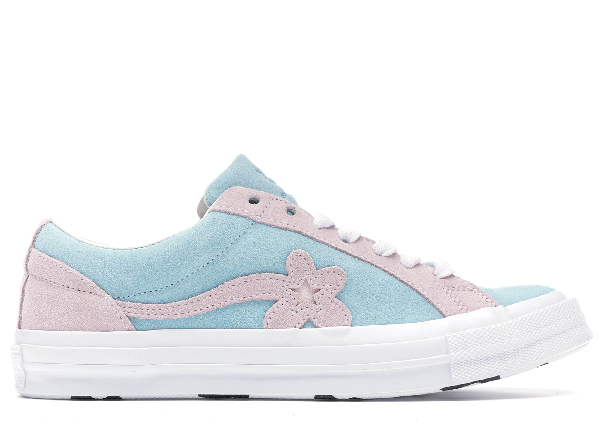Pre Owned Converse One Star Ox Tyler The Creator Golf Le Fleur Light Blue Pink In Plume Pink Marshmallow White Modesens
