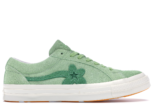 Pre Owned Converse One Star Ox Tyler The Creator Golf Le Fleur Jade Lime In Green White Modesens