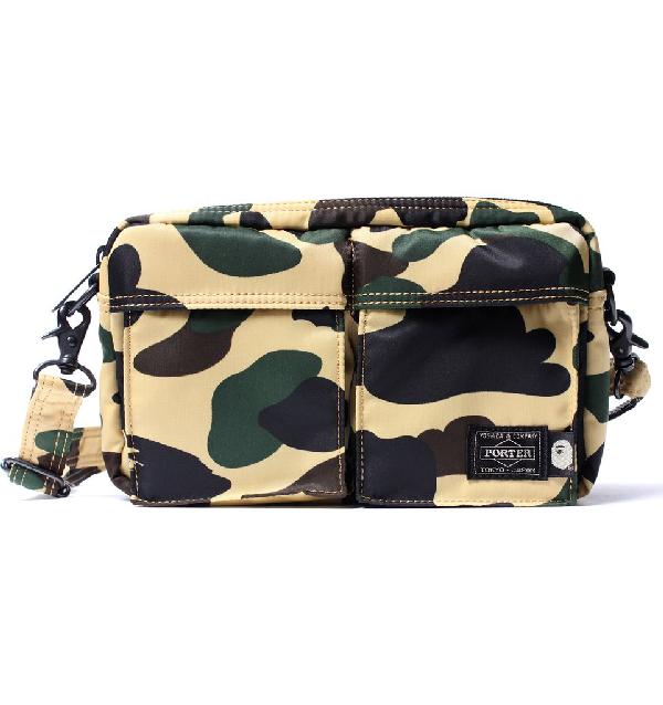 a3dc9f9f Bape X Porter 1St Camo Double Pocket Shoulder Bag Yellow | ModeSens