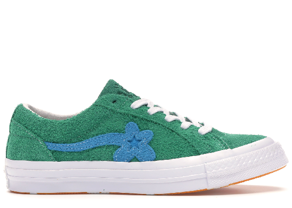 Pre Owned Converse One Star Ox Tyler The Creator Golf Le Fleur Jolly Green In Green White Modesens