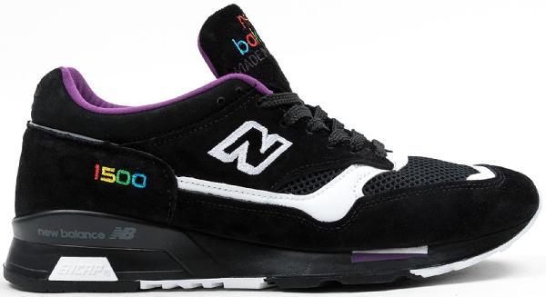 New Balance 1500 Prism Black In Black/purple-white