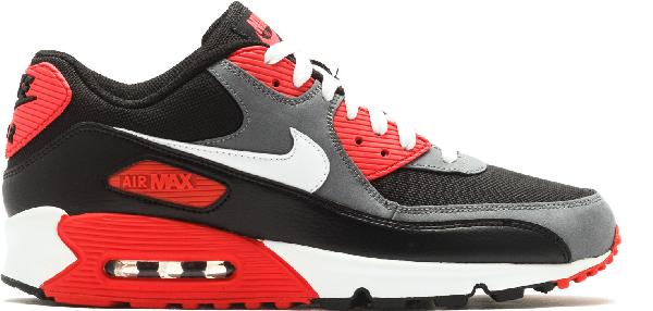 Pre Owned Nike Air Max 90 Black Infrared In Black White Flint Grey