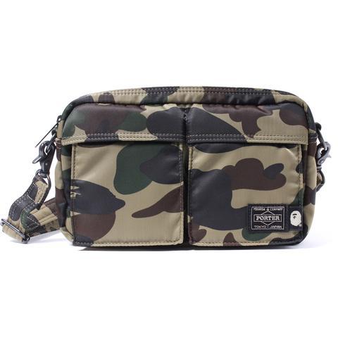 ea020a94 Bape X Porter 1St Camo Double Pocket Shoulder Bag Green | ModeSens