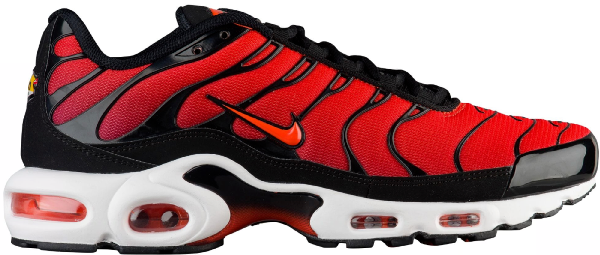 Pre Owned Nike Air Max Plus Team Orange Team Red In Black Team
