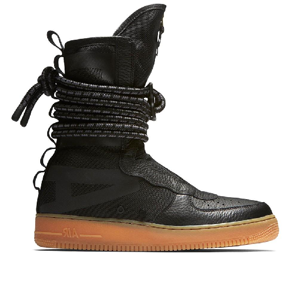 Pre Owned Nike Sf Air Force 1 High Black Gum In Black Black Gum Medium Brown Modesens