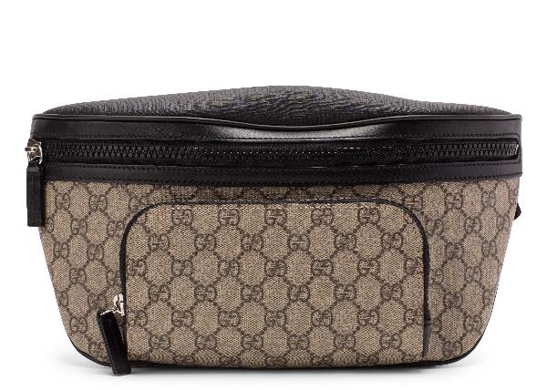 95df04acd Gucci Front Pocket Belt Bag Gg Supreme Black/Beige | ModeSens