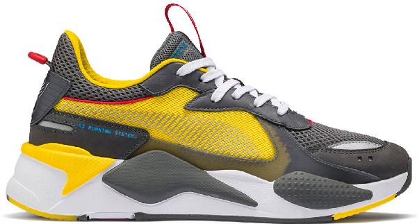 Puma Rs-x Transformers Bumblebee In Yellow/grey-bumblebee