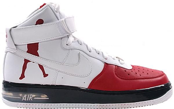 Pre Owned Nike Air Force 1 High Sheed Red White Black In Varsity