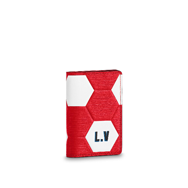 Louis Vuitton Pocket Organizer Hexagonal Fifa World Cup Rouge