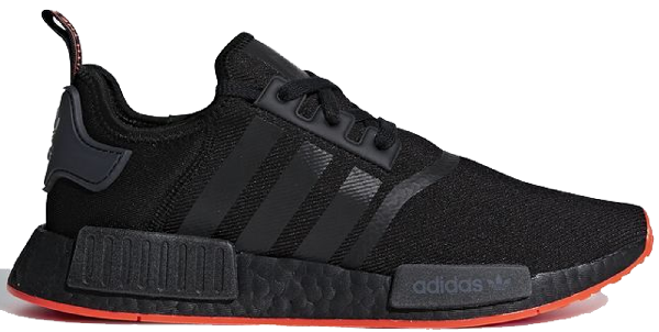 Pre Owned Adidas Originals Adidas Nmd R1 Core Black Solar Red In
