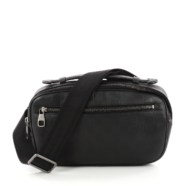 Louis Vuitton Shoulder Bag Ambler Damier Infini Black