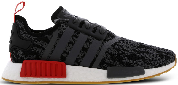 Pre Owned Adidas Originals Adidas Nmd R1 Black Grey Red Gum Foot