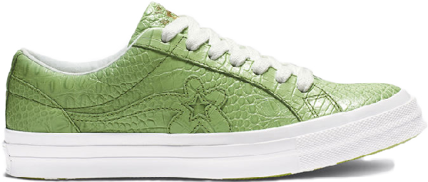 Pre Owned Converse One Star Ox Golf Le Fleur Faux Skin Green In Forest Green Turtle Green Modesens