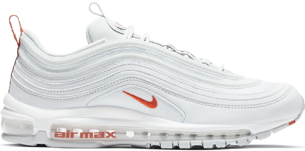 crazy price exclusive shoes good service Air Max 97 Pure Platinum Team Orange in Pure Platinum/White-Team Orange