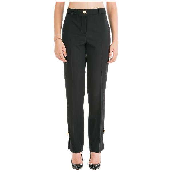 Versace Women's Trousers Pants In Black