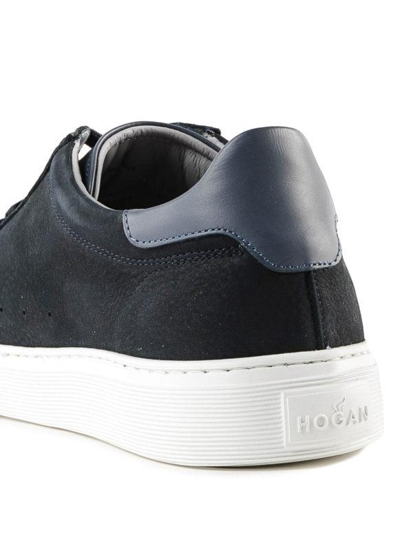 Hogan H365 Dark Blue Suede Sneakers In W Blu Denim   ModeSens