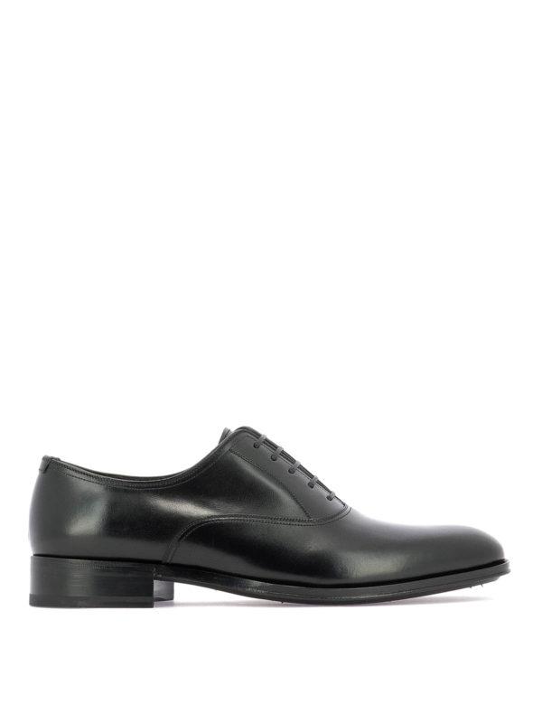 Salvatore Ferragamo Alfredo Smooth Calfskin Oxford Shoes In Black