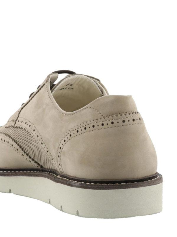 Hogan Dress X-h322 Suede Derby Shoes In Beige | ModeSens