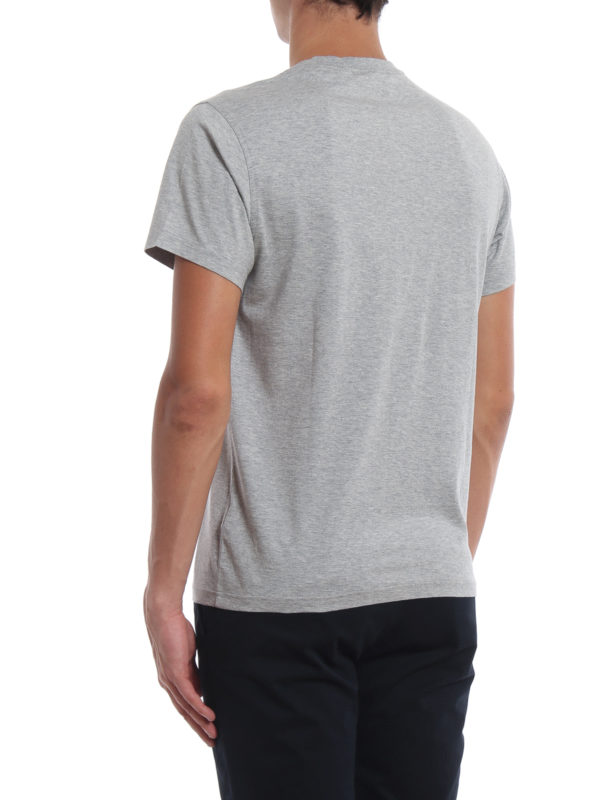 Burberry Men's Parker Logo-Embroidered T-Shirt, Gray In Grey
