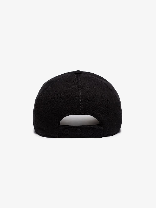 Burberry Black Tb Logo Embroidered Cotton Baseball Cap