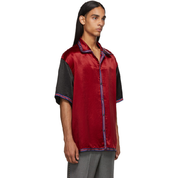 8514dc8e3d Acetate Bowling Shirt With Gg Star in Red