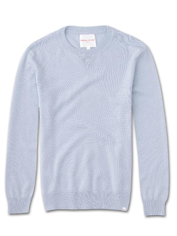 Derek Rose Women's Cashmere Sweater Finley Pure Cashmere Sky