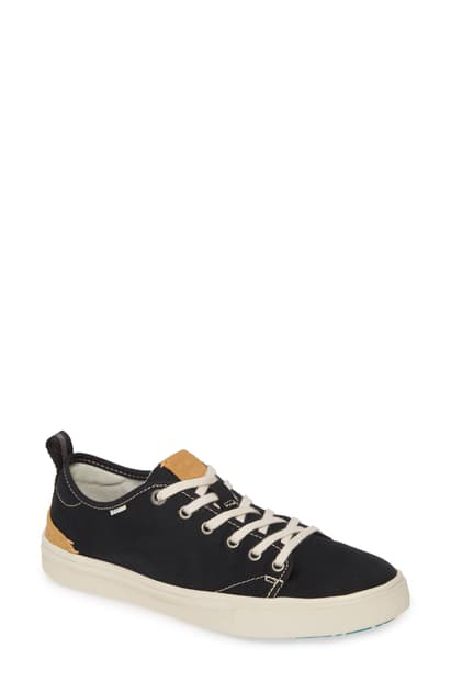 Toms Travel Lite Low Top Sneaker In Black Canvas