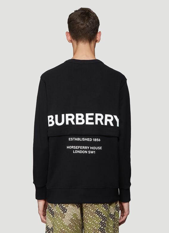883770d6321 Burberry Acklow Horseferry Print Zip Pocket Sweatshirt In Black ...