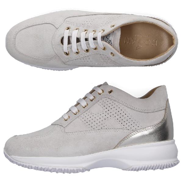 brand new a5346 c7ed8 Sneaker Low Interactive Veloursleder Logo Grau in Grey