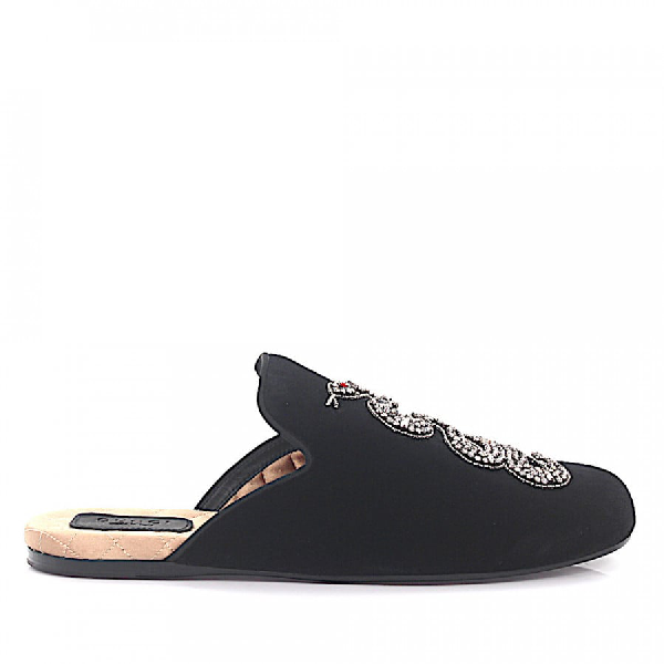 Gucci Slip On Shoes In Black