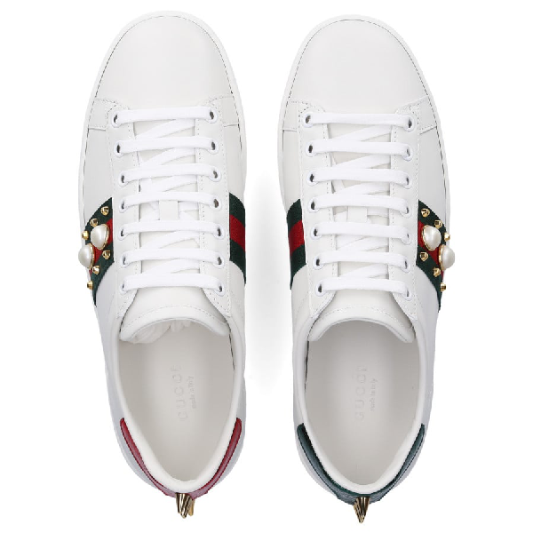 Gucci Low-Top Sneakers New Ace Sneaker In White