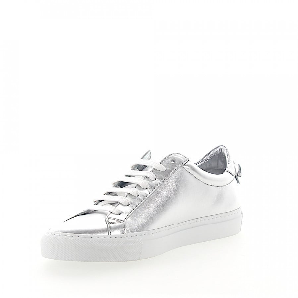 GIVENCHY SNEAKERS URBAN STREET  SMOOTH LEATHER METALLIC SILVER