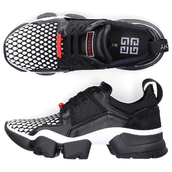 Givenchy Low-Top Sneakers Jaw Sneaker  Calfskin Neoprene Logo Black-Combo