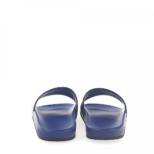 Balenciaga Sandals Wam00 Nappa Leather Logo Blue