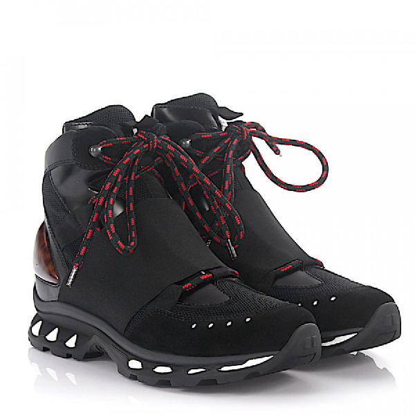 Givenchy High-Top Sneakers Calfskin Mesh Black-Combo