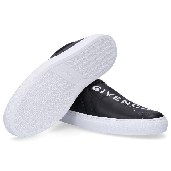 Givenchy Low-Top Sneakers Urban  Calfskin Logo Print Black