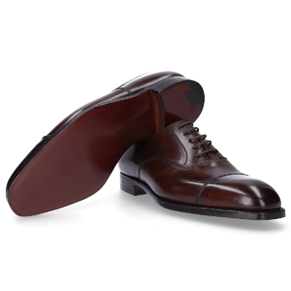 CROCKETT & JONES BUSINESS SHOES OXFORD AUDLEY SMOOTH LEATHER BROWN