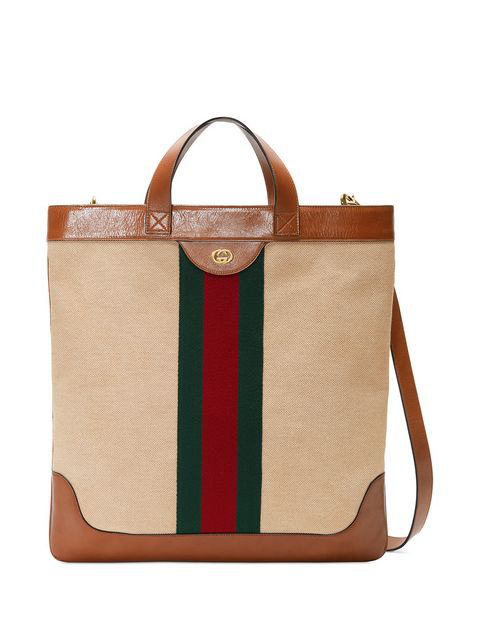 Gucci Web Stripe Canvas And Leather