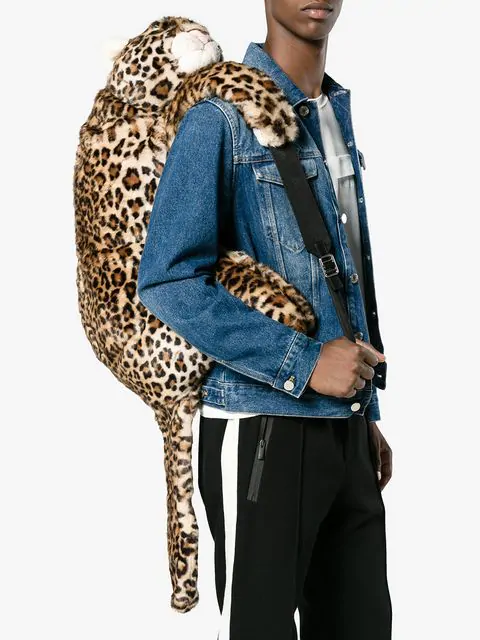 DOLCE & GABBANA DOLCE & GABBANA LEOPARD STUFFED TOY BACKPACK - NEUTRALS,BM1481AM61612309936