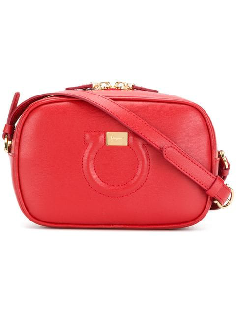complete in specifications purchase authentic new lifestyle Salvatore Ferragamo Gancio City Red Cross Body Bag | ModeSens