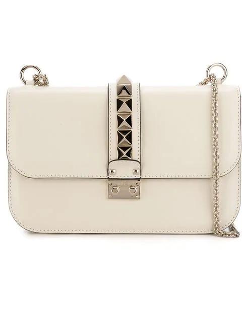 cfdc579b04b Valentino Valentino Garavani 'Glam Lock' Shoulder Bag - White