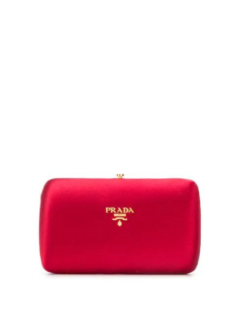 Logo Clutch Bag In F0041