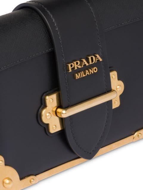 PRADA PRADA CAHIER SHOULDER BAG - BLACK