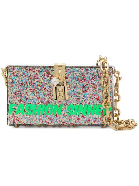 Box Fashion Sinner Bag In Multicolour