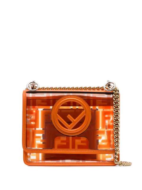 6e276fdb Kan I Ff Logo Print Cross Body Bag in Orange