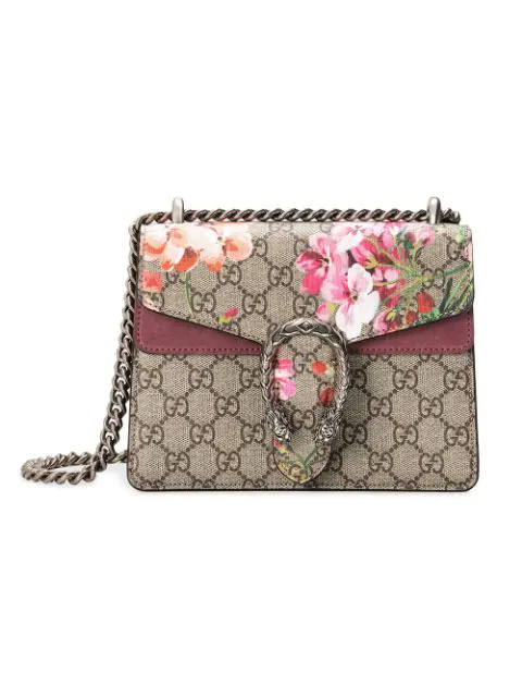 c57efb58 Gucci Mini Dionysus Gg Blooms Canvas & Suede Shoulder Bag - Beige In 8693