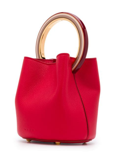 Marni Soft Cross-Body Leather Bag - Red