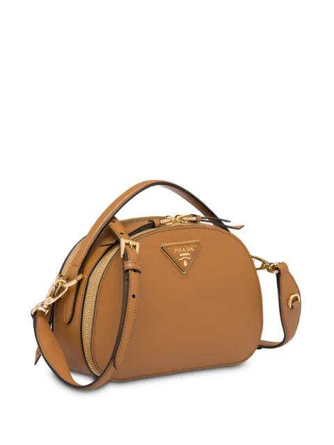 Prada Odette Leather Shoulder Bag - Caramel In F098L Caramel