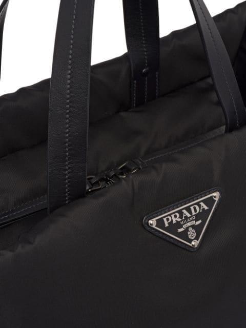 69da4c5196 Prada Medium Padded Nylon Tote - Black