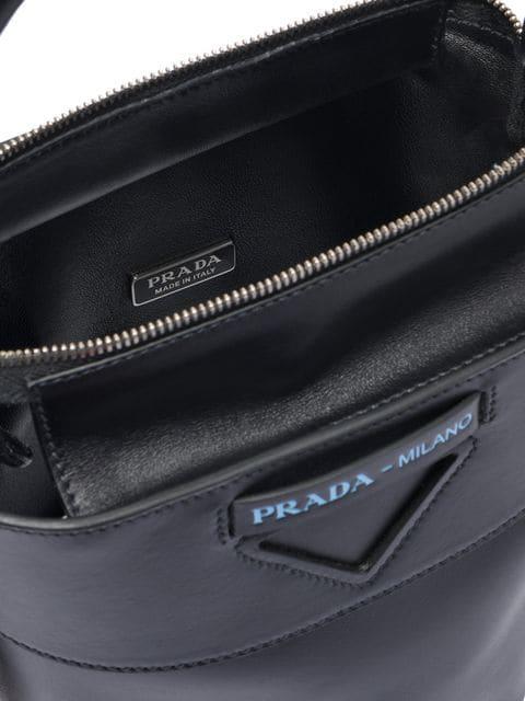 58c5c87e81 Prada Ouverture Leather Bucket Bag - Black in F0002 Black
